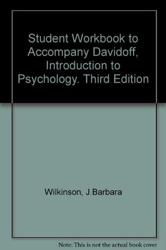 9780070155466: Student Workbook to Accompany Davidoff, Introduction to Psychology. Third Edition