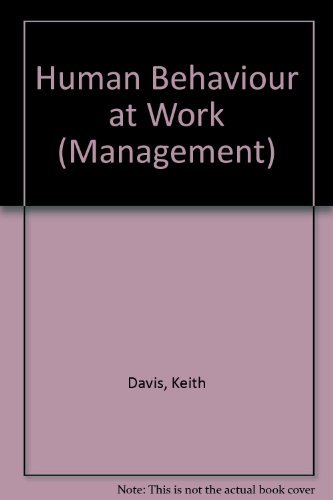 9780070155664: Human Behaviour at Work (Management)