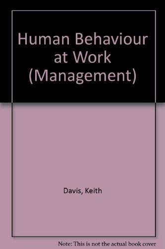 9780070155664: Human Behaviour at Work (Management)