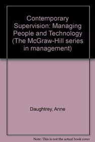 9780070155862: Contemporary Supervision: Managing People and Technology (The McGraw-Hill series in management)