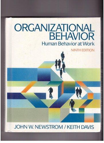 9780070156036: Organizational Behavior: Human Behavior at Work (McGraw-Hill series in management)