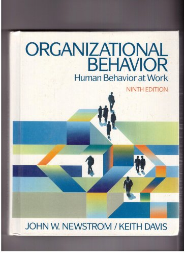 9780070156036: Organizational Behavior: Human Behavior at Work (McGraw-Hill series in management)