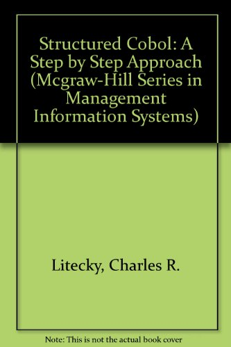 9780070157880: Structured Cobol: A Step by Step Approach (Mcgraw-Hill Series in Management Information Systems)