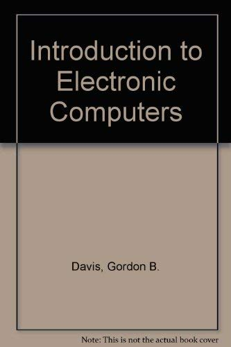 9780070158214: Introduction to Electronic Computers