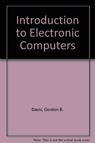9780070158252: Introduction to Electronic Computers