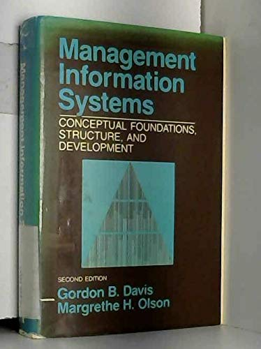9780070158283: Management Information Systems: Conceptual Foundations, Structure, and Development (Mcgraw Hill Series in Management Information Systems Series)