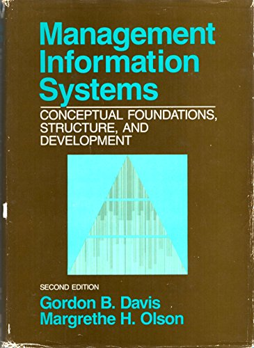 9780070158306: Management Information Systems Conceptual Foundations, Structure, and Development, second edition