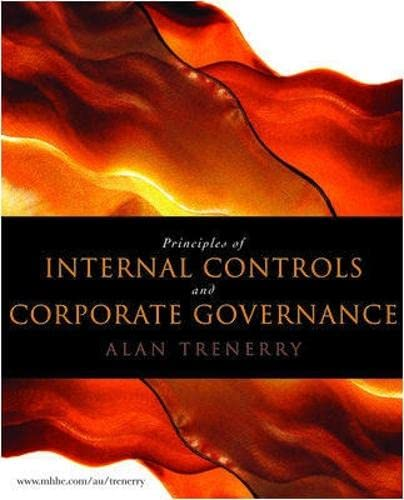 9780070159235: PRINCIPES OF INTERNAL CONTROL AND CORPORATE GOVERNANCE