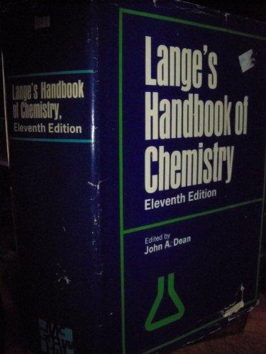 9780070161900: Langes Handbook of Chemistry 11th ED