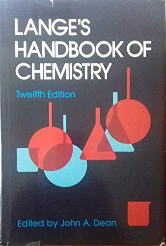 9780070161917: Lange's Handbook of Chemistry