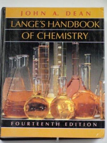 9780070161948: Lange's Handbook of Chemistry