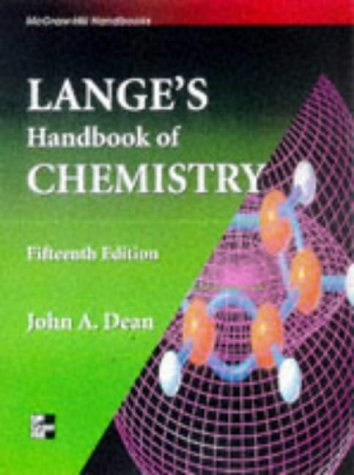 Lange's Handbook of Chemistry, 14th Edition: Dean, John L.