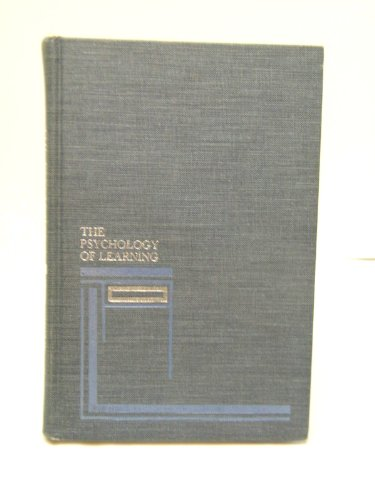 9780070162365: Psychology of Learning