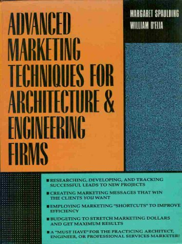 9780070162488: Advanced Marketing Techniques for Architecture and Engineering Firms