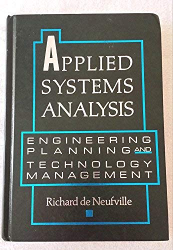 9780070163720: Applied Systems Analysis: Engineering Planning and Technology Management