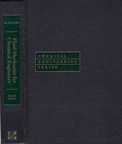 9780070163751: Fluid Mechanics for Chemical Engineers (McGraw-Hill Chemical Engineering Series)