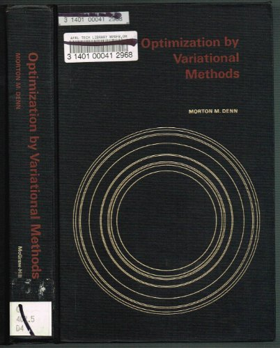 9780070163959: Optimization by Variational Methods