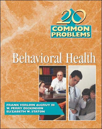 9780070164383: 20 Common Problems in Behavioral Health