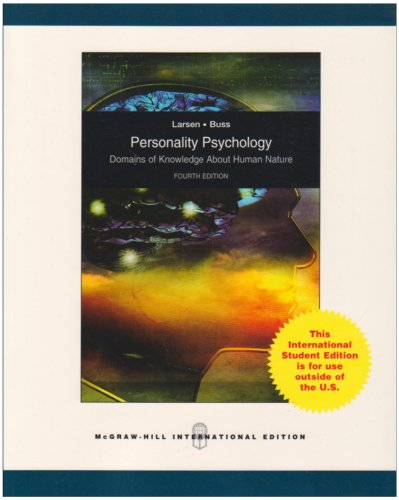 9780070164994: Personality Psychology: Domains of Knowledge About Human Nature