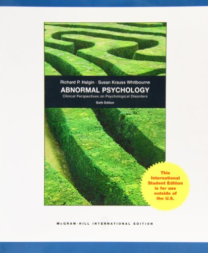 9780070165076: Abnormal Psychology: Clinical Perspectives on Psychological Disorders