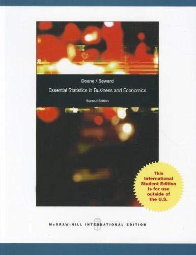 9780070165182: Essential Statistics in Business and Economics