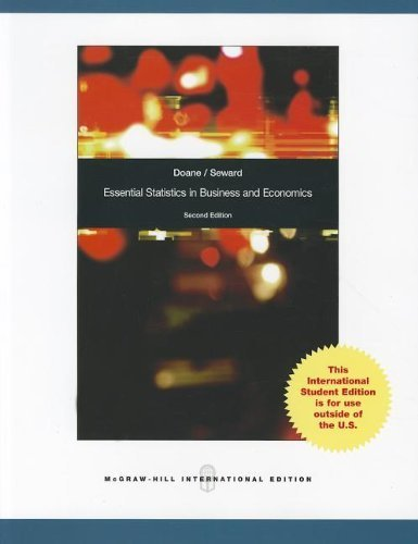 9780070165182: Essential Statistics in Business and Economics