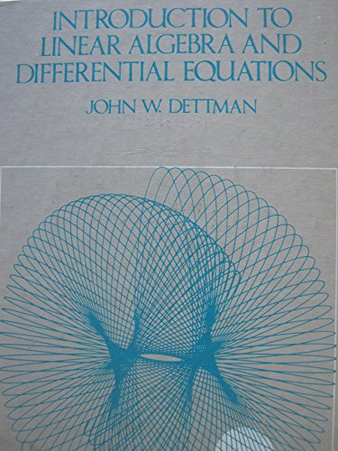 9780070165885: Introduction to Linear Algebra and Differential Equations