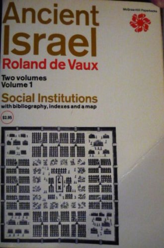 9780070165991: Ancient Israel: Social Institutions
