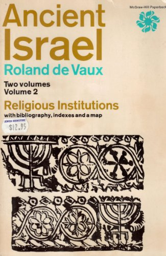 9780070166004: Ancient Israel: Religious Institutions