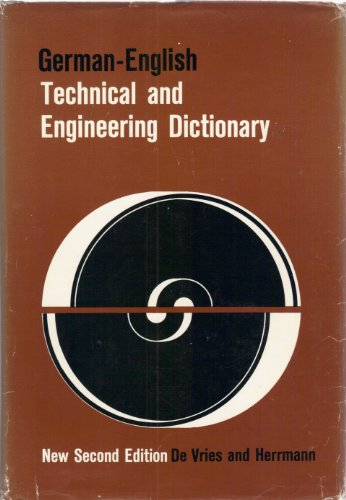 9780070166318: German-English Technical and Engineering Dictionary (English and German Edition)