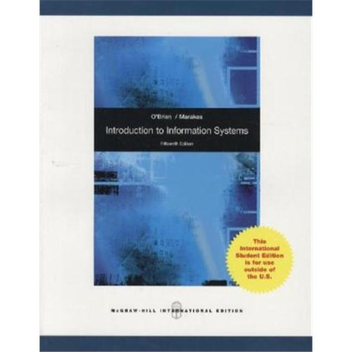 9780070167087: Introduction to Information Systems