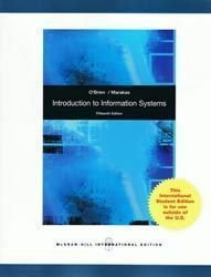 Introduction to Information Systems: James A. O'Brien,