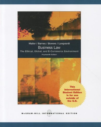 9780070167148: Business Law: The Ethical, Global, and E-Commerce Environment