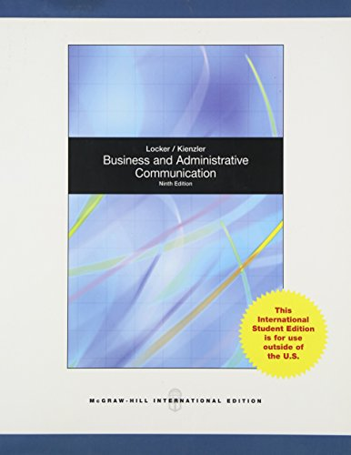 9780070167186: Business and Administrative Communication