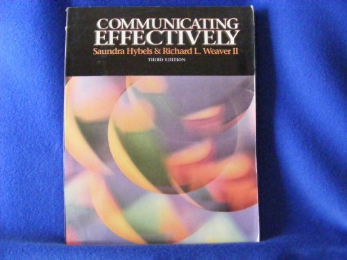9780070167414: Communicating Effectively