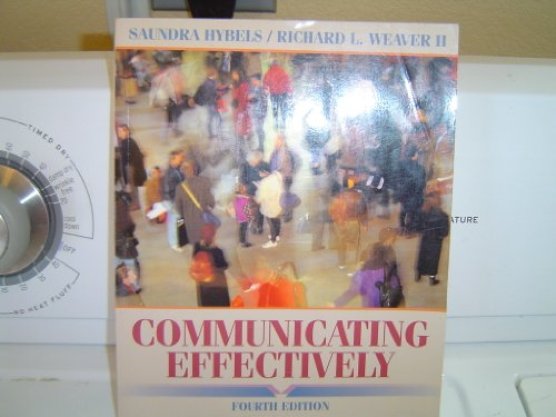 9780070167551: Communicating Effectively