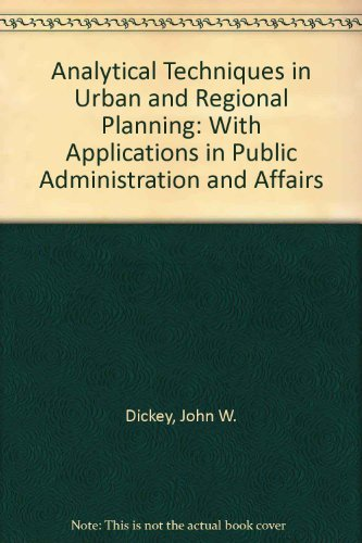 9780070167988: Analytical Techniques in Urban and Regional Planning: With Applications in Public Administration and Affairs