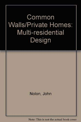 9780070168190: Common Walls/Private Homes: Multi-Residential Design