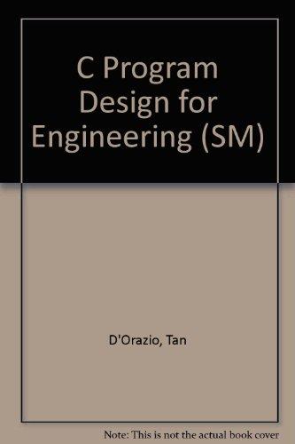 9780070169128: C Program Design for Engineering (SM)