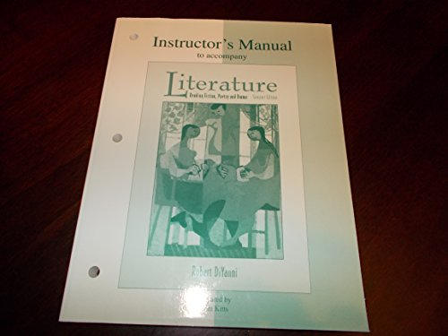 9780070169463: Literature: Reading Fiction, Poetry, Drama and the Essay: Instructor's Manual