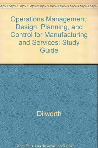 9780070169562: Operations Management: Design, Planning, and Control for Manufacturing and Services: Study Guide