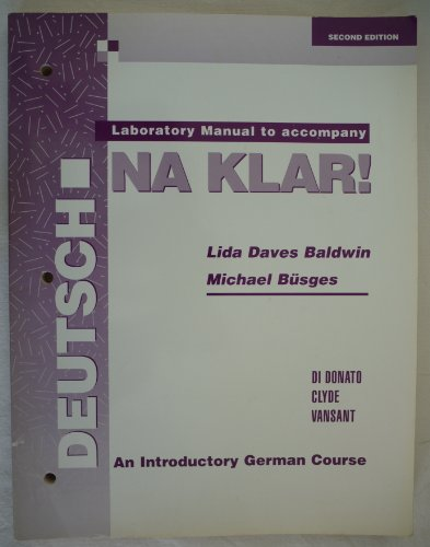 9780070169722: Laboratory Manual to Accompany Deutsch Na Klar!