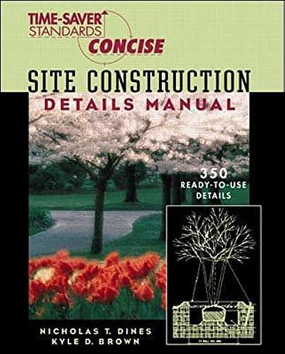 9780070170391: Time-Saver Standards Site Construction Details Manual (Time-Saver Standards Concise Series)