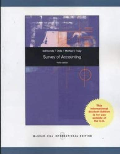 9780070170414: Survey of Accounting