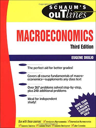 Schaum's Outline of Theory and Problems Macroeconomics: Diulio, Eugene A.