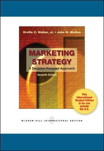 9780070171466: Marketing Strategy: A Decision-Focused Approach