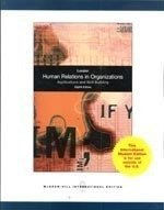 9780070171558: Human Relations in Organizations: Applications and Skill Building