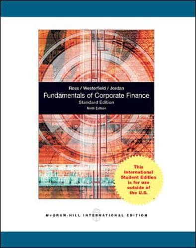 9780070171589: Fundamentals of Corporate Finance Standard Edition
