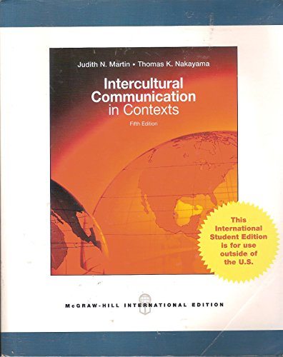 9780070171770: Intercultural Communication in Contexts