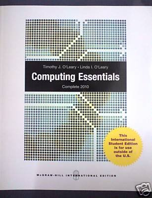 9780070172791: Computing Essentials 2009
